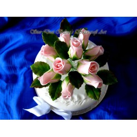 Light pink roses sugar bouquet