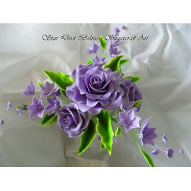 Lilac roses flowers spray