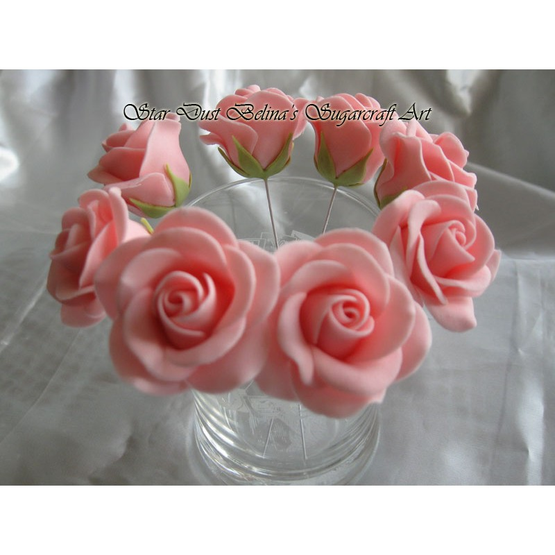 Pink wired roses
